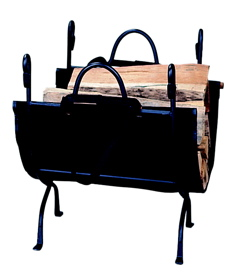 Uniflame W-1866 DELUXE WROUGHT IRON LOG HOLDER