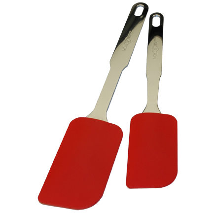 MIU France 9407 Silicone Red Spatulas with SS Handle : 10 Inch  12 Inch
