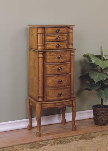 Powell 604-315 Woodland Oak Jewelry Armoire