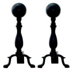 Uniflame A-1234 Black Ball Andiron