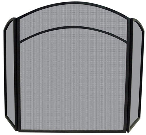 Uniflame S-1060 3 FOLD BLACK WROUGHT IRON ARCH TOP SCREEN