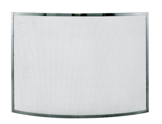 Uniflame S-1613 SINGLE PANEL CURVED PEWTER SCREEN