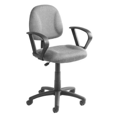Boss B317-BK Deluxe Posture Task Computer Chair with Loop Arms - Black