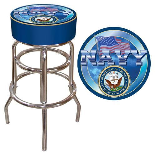 Poker USN-1000 US Navy Padded Bar Stool
