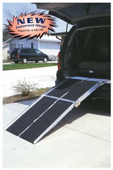 Prairie View Industries 6-ft x 30-in Portable Multifold Reach Wheelchair Ramp 800 lb. Weight Capacity  Maximum 12-in Ris
