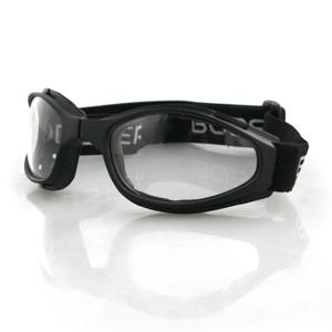 Zan Headgear BCR002 Crossfire  Small Folding Goggles  Black frame  Clear lenses BLB053