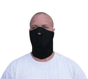 Zan Headgear WNFM114H3 Neoprene 3-Panel Half Mask  Black BLB410