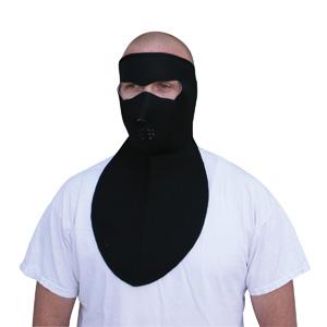 Zan Headgear WNFM114N Neoprene Face Mask  Neoprene Neck Shield  Black