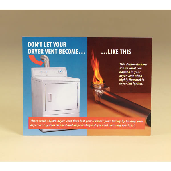 Chimney 99203 Dryer Vent Cleaning Sales Postcard  Pack of 100