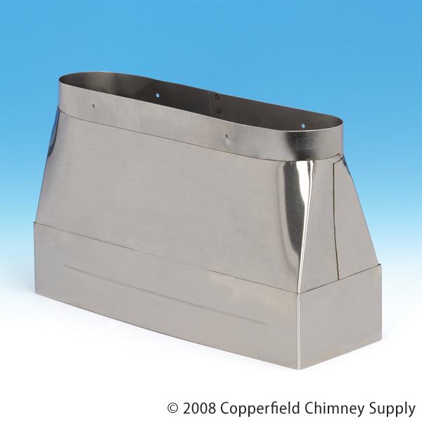 Chimney 14470 HomeSaver Insert Adaptor Transition - Large Ovalflex