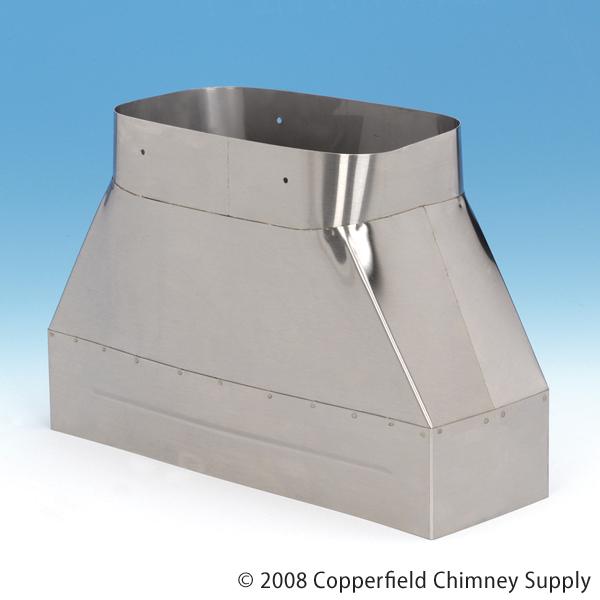 Chimney 14480 HomeSaver Insert Adaptor Transition-rectangleflex