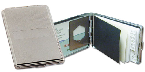 Ruda Overseas 154 Metal Card Case with Phone Book