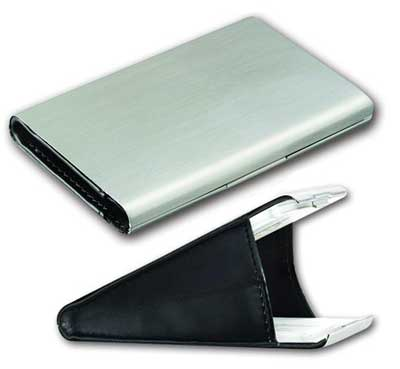 "Ruda Overseas 173 4"" x 3"" Metal Card Case"