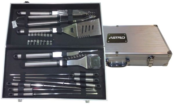 Ruda Overseas 422 18pc BBQ Set In Aluminum Case
