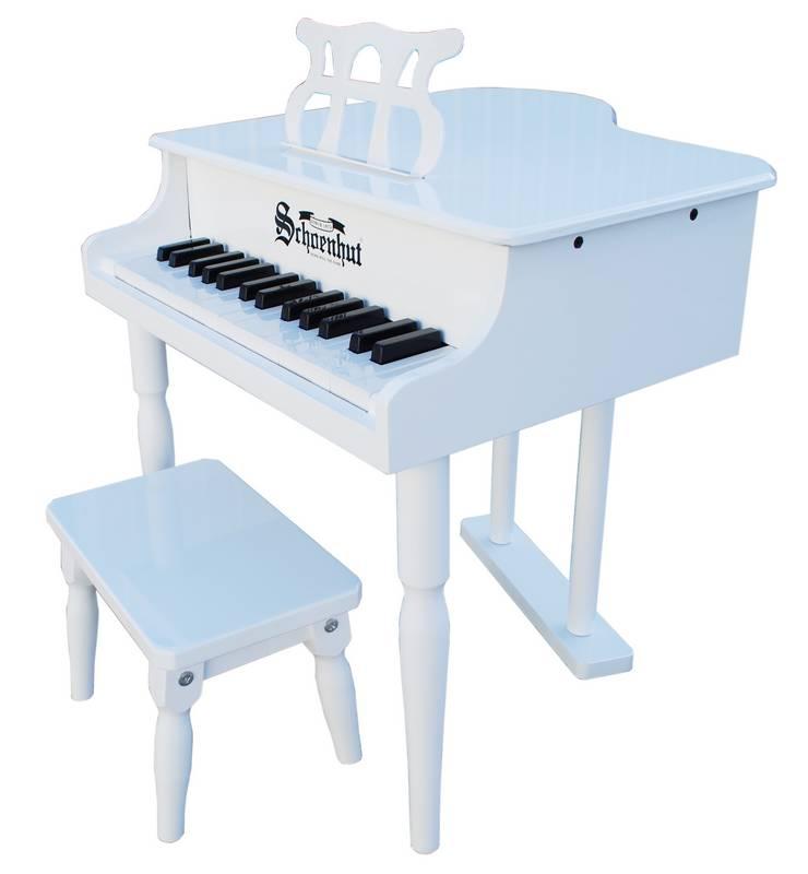 Schoenhut 309GW White 32 Key Classic Baby Grand