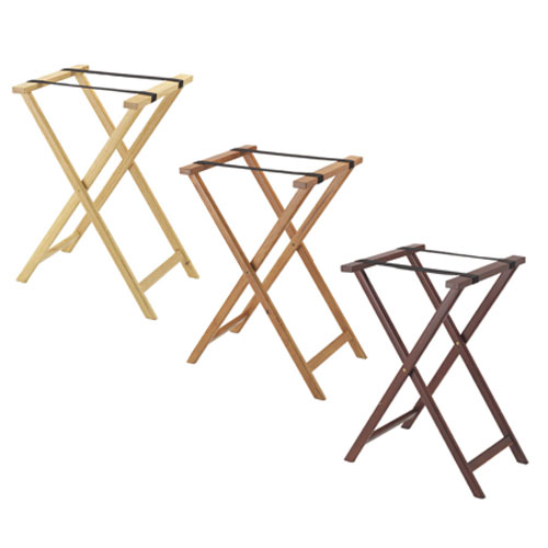 Aarco TS-1  Folding Wood Tray Stand - Light