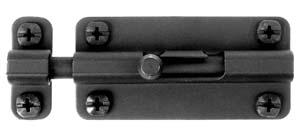 "Acorn ALFBP 4"" Slide Barrel Bolt - Black Iron"