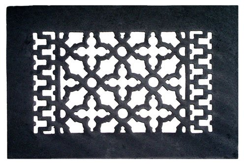 "Acorn GRABG 10"" x 6"" Cast Iron Decorative Grille - Black"