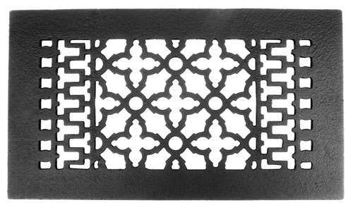 "Acorn GRBBG 12"" x 6"" Cast Iron Decorative Grille - Black"