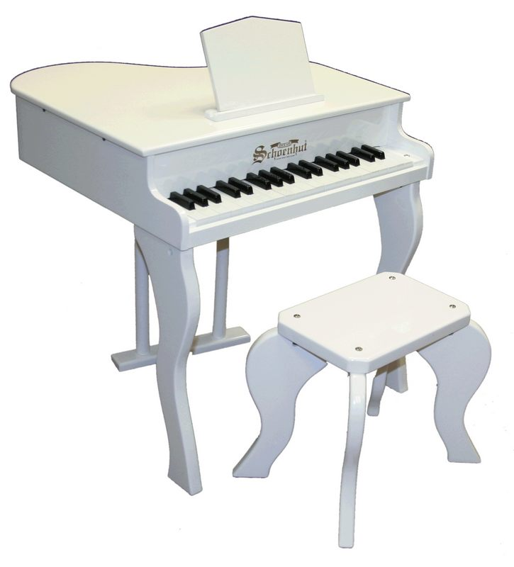 Schoenhut 372W White 38 Key Elite Baby Grand