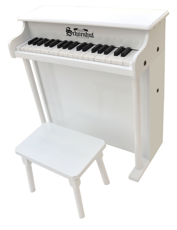 Schoenhut 6637W White 38 Key Spinet