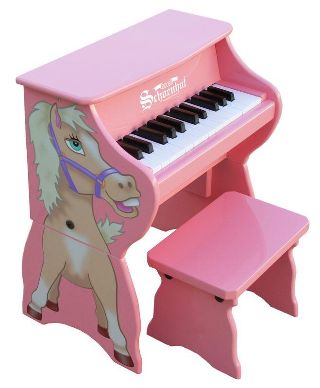 Schoenhut 9258H Pink 25 Key Horse with Bench