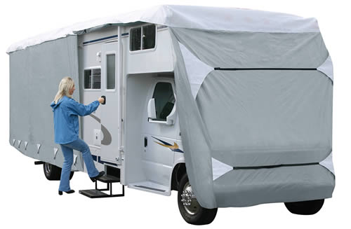 Classic Accessories 79363 PolyPro III Deluxe Class C RV Cover - Grey - Model 3