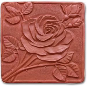 Garden Molds X-ROSE8037 Rose Stepping Stone Mold- Pack of 2
