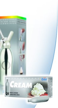 """Liss 324 2.75""""H x 6""""W x 2.5""""D Steel Cream Charger - Set of 24"""