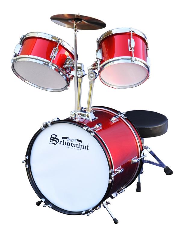 Schoenhut C1020 Red 5 Piece Drum Set