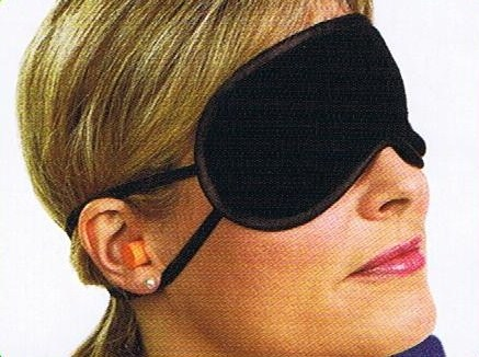 Talus SmoothTrip ST-PC3002BLK Sleep shades with Ear Plugs