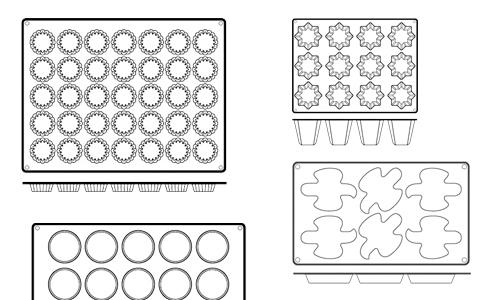 Paderno World Cuisine 47780-05 Non-Stick Silicone Mold  Dove  Mini