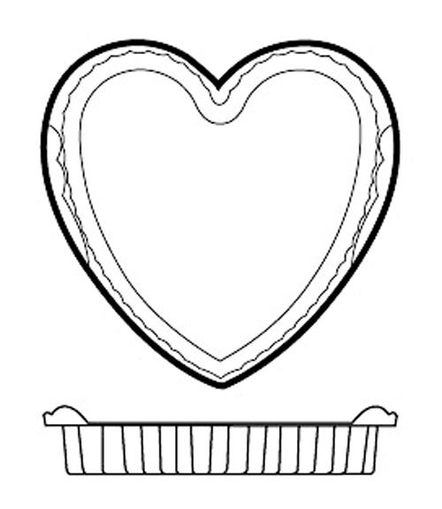 Paderno World Cuisine 47786-04 Non-Stick Silicone Mold  Heart