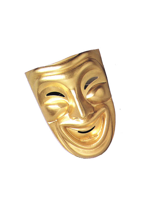 Costumes For All Occasions MA803 Comedy Mask Gold