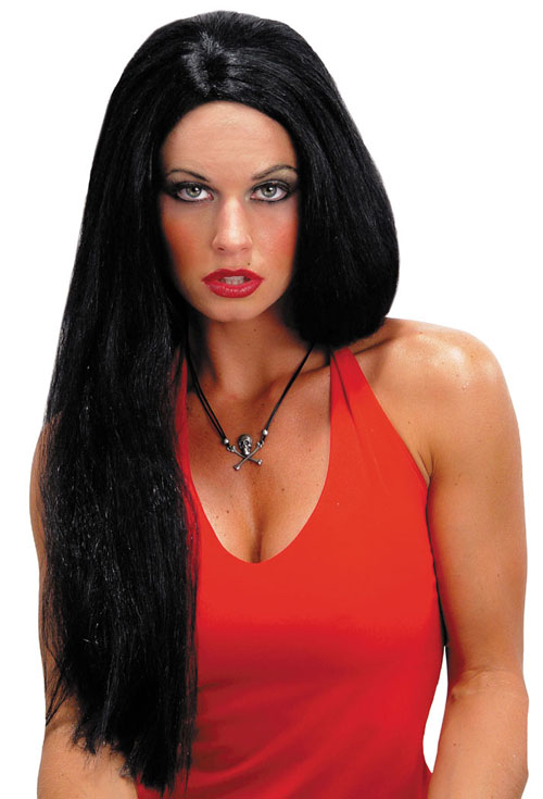 Costumes For All Occasions MR176000 Wig 24 Inch Straight Black