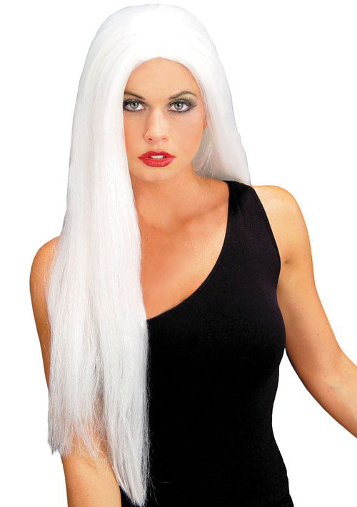Costumes For All Occasions MR176003 Wig 24 Inch Straight White