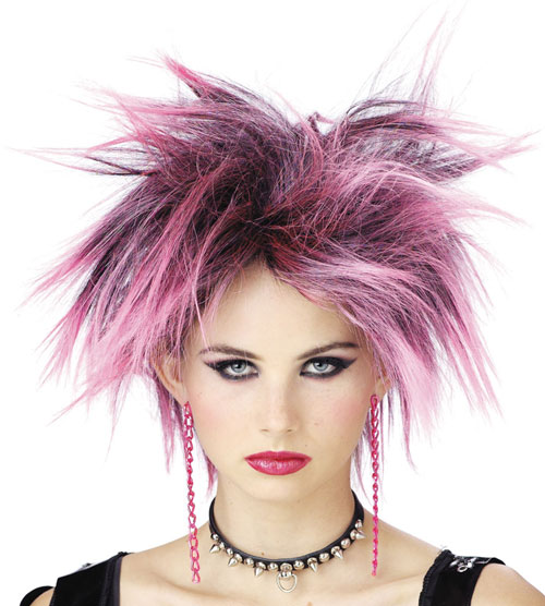 Costumes For All Occasions MR177036 Wig Pink Punker Chick