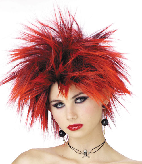 Costumes For All Occasions MR177037 Wig Red Punker Chick