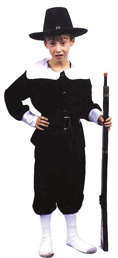 Costumes For All Occasions AF53LG Pilgrim Boy Large