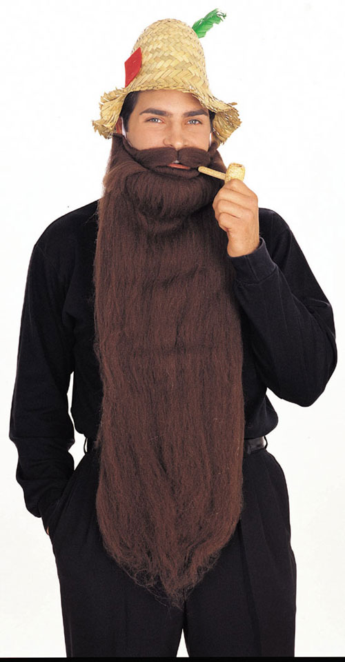 Costumes For All Occasions RU2053BN Mohair 25 Inch Brown Beard