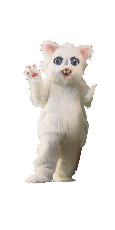 Costumes For All Occasions AL88AP Snow Ball Kitty Mascot Complet