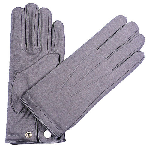 Costumes For All Occasions BA18 Gloves Nylon W Snap Mens Grey