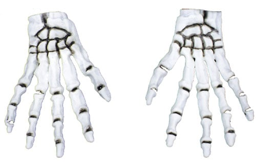 Costumes For All Occasions BA31 Gloves Skeleton Glow In Dark