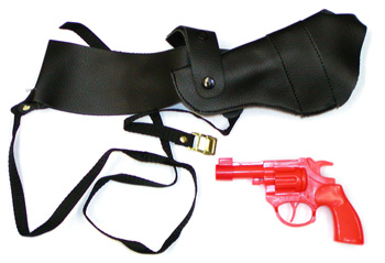 Costumes For All Occasions BB106 Shoulder Holster With Gun