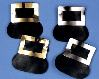 Costumes For All Occasions BB221GD Shoe Buckles Colonial Gold