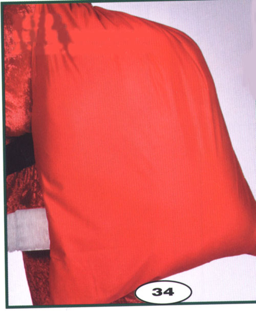 Costumes For All Occasions BB497 Santa Toy Bag Velour