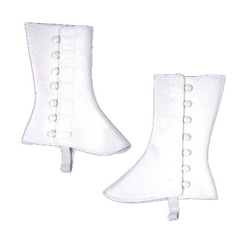 Costumes For All Occasions BB97LG Spats 9In High Vinyl Large XLarge White
