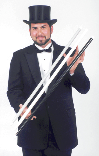 Costumes For All Occasions BD01WT Swagger Stick Heavy White