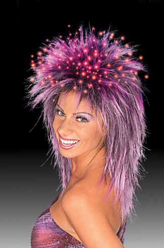 Costumes For All Occasions CA133 Fiber Optic Wig Purple