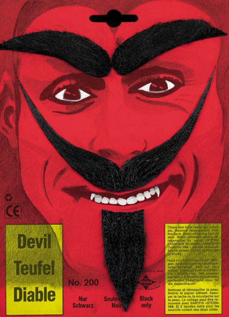Costumes For All Occasions CB41 Devil Must Beard Brows Blk